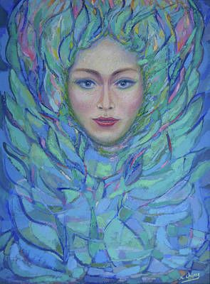 Painting - Woman's Face by Miguel A Chavez