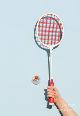 Photograph - Woman's Hand Holding A Retro Badminton Racket by Michal Bednarek