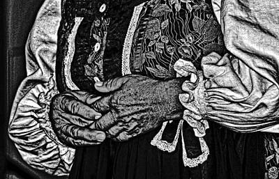 Photograph - Woman's Hands. by Bill Jonscher