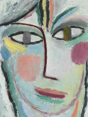 Jawlensky Painting - Woman's Head, Femina by Alexej von Jawlensky