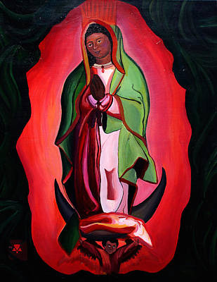 Virgen Mary Painting - Woman's Religion by Alexis Keys Art