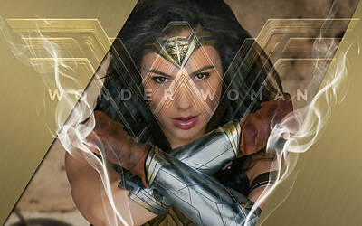 Wonder Woman Mixed Media - Womder Woman Art by Marvin Blaine