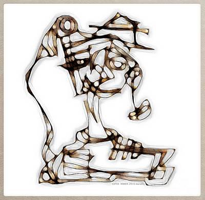 Digital Art - Women 3977 by Marek Lutek