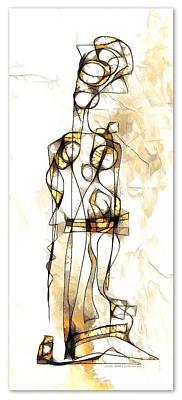 Digital Art - Women 3983 by Marek Lutek