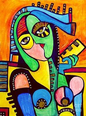 Painting - Women 4300 by Marek Lutek