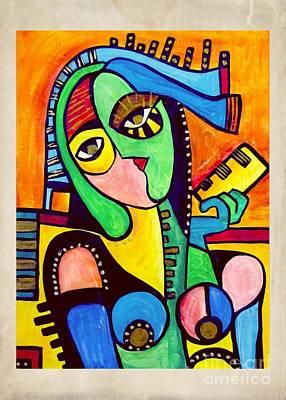 Painting - Women 4303 by Marek Lutek