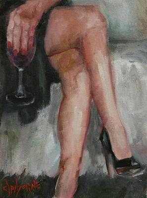 Women And Their Wine 1 Original by Claiborne Hemphill-Trinklein