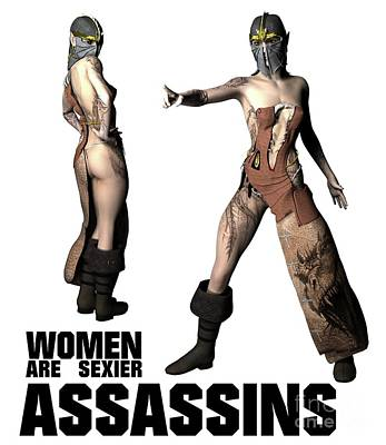 Comics Royalty-Free and Rights-Managed Images - Women Are Sexier Assassins by Esoterica Art Agency