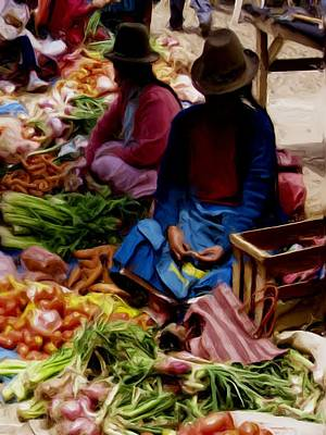 Painting - Women At The Market by Shelley Bain