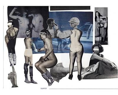 Digital Art - Women At The Movies by Doug Duffey