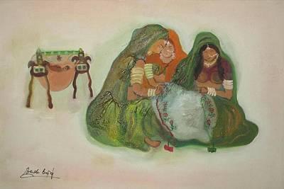 Sowing Painting - Women At Work by Bindu Bajaj