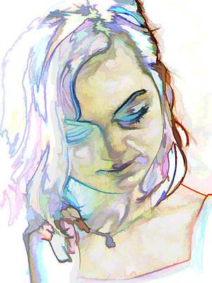 Women Body - Color Face1 Art Print by Robert Litewka