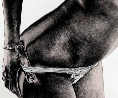 Women Body - Metalic Hand On Art Print by Robert Litewka