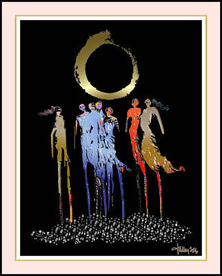 Women Chanting - Enso  Art Print