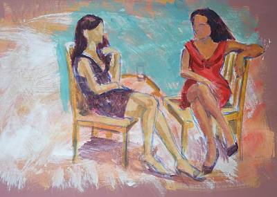 Painting - Women Chatting by Mike Jory
