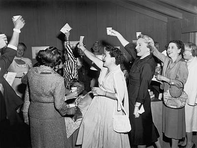 Women Cheering And Toasting Art Print by Underwood Archives