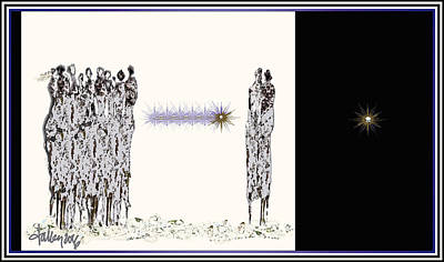 Digital Art - Women Chanting - Women Empowering Women by Larry Talley
