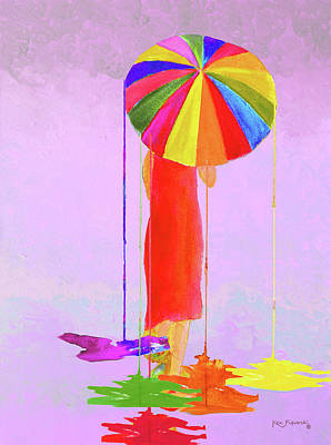 Women In Color 3 Art Print by Ken Figurski