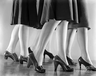Women In Heels, C.1940s Art Print