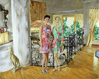 Painting - Women In Sunroom by Ryan Demaree