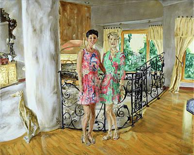 Painting - Women In Sunroom by Ryan Demaree