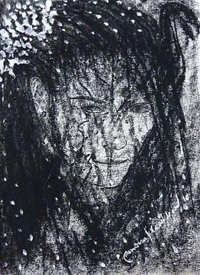 Drawing - Women In The Dark Life by Wanvisa Klawklean