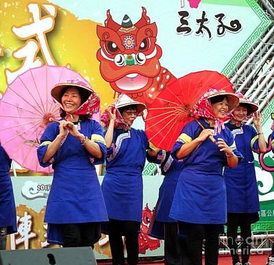 Photograph - Women In Traditional Chinese Hakka Costumes by Yali Shi