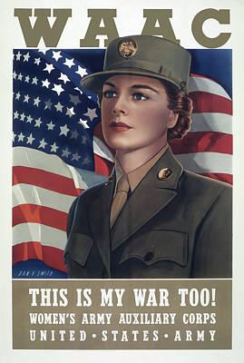 Photograph - Women In World War Two - 1941 by Daniel Hagerman