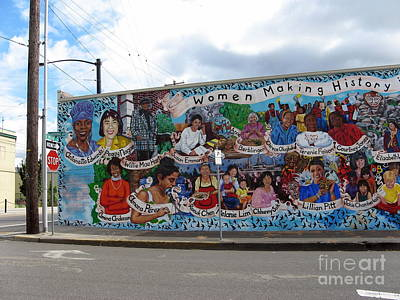 Photograph - Women Making History Mural by Marlene Rose Besso