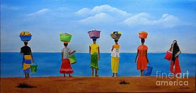 Painting - Women Of Africa  by Bev Conover