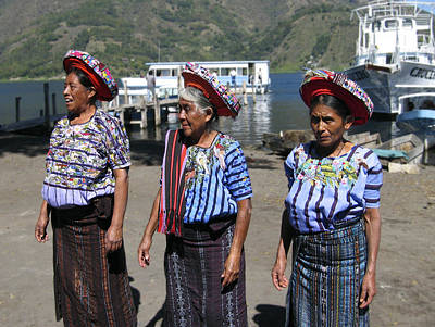 Photograph - Women Of Santiago Atitlan Guatemala by Kurt Van Wagner