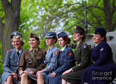 Women Of World War 2 Art Print by Jimmy Ostgard