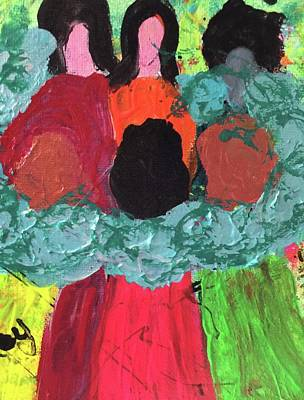 Painting - Women Together With Teal by Annette McElhiney