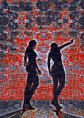 Digital Art - Women Trapped By Love by Femina Photo Art By Maggie
