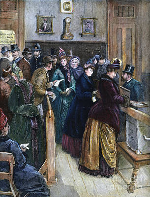 Photograph - Women Voting, 1888 by Granger