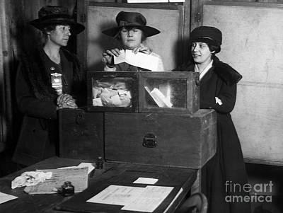 Ballot Wall Art - Photograph - Women Voting, C1917 by Granger
