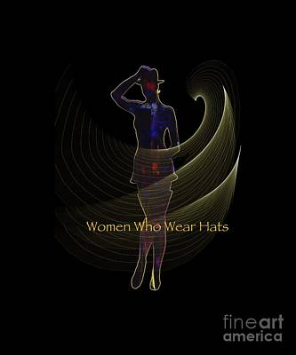Digital Art - Women Who Wear Hats 5 by Sydne Archambault