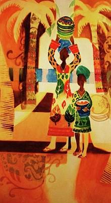 Painting - Women With Baskets by Marilyn Jacobson