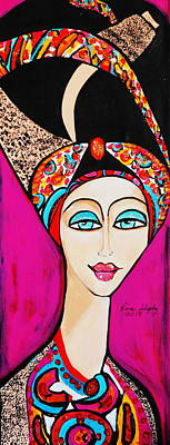 Painting - Women With Turbin by Nora Shepley