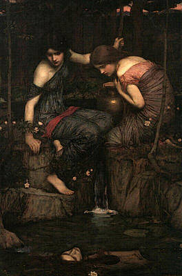 Water Jug Digital Art - Women With Water Jugs by John William Waterhouse