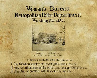 Women's Bureau House Of Detention Poster 1921 Art Print by Tony Murphy