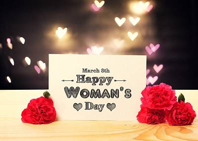 Design Wall Art - Digital Art - Women's Day by Maye Loeser
