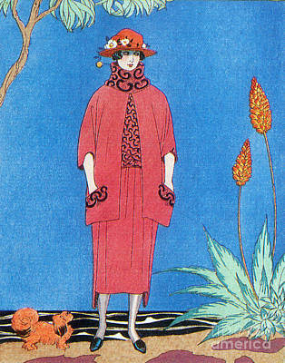 Knights Beach Photograph - Womens Fashion, George Barbier, 1921 by Science Source