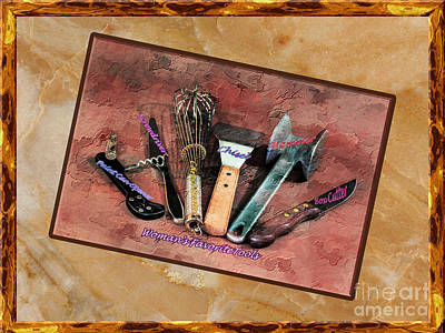 Photograph - Women's Favorite Tools by Shirley Mangini