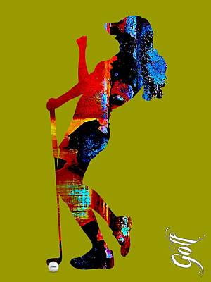 Mixed Media - Womens Golf Collection by Marvin Blaine