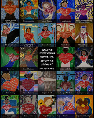 Painting - Women's History Month by Angela Yarber