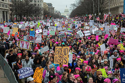 Photograph - Women's March by Jim West