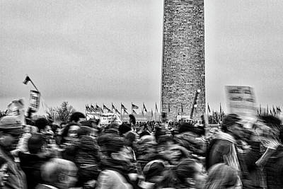 Photograph - Women's March On Washington #2 by Stuart Litoff
