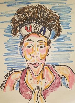 Painting Royalty Free Images - Womens Olympics  Royalty-Free Image by Geraldine Myszenski