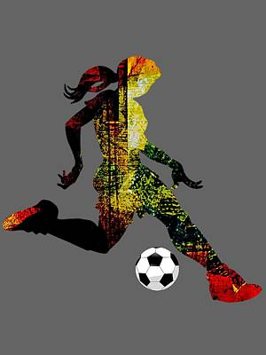 Soccer Mixed Media - Womens Soccer Collection by Marvin Blaine